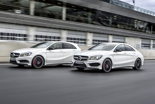 mercedes-Cla-45-amg-and-A-45 amg